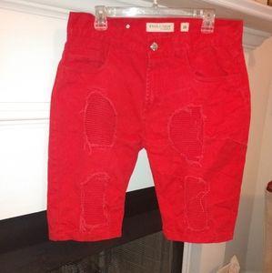 Men's Evolution in Design Red destress shorts